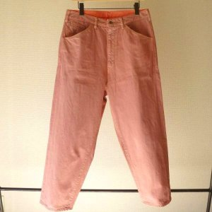 画像1: bukht BIG DENIM PANTS LONG FLAMINGO
