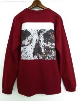CYDERHOUSE D-SKULL Long Sleeve shirts バーガンディー