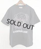 CYDERHOUSE 原画モトコMASK Tシャツ BLACK
