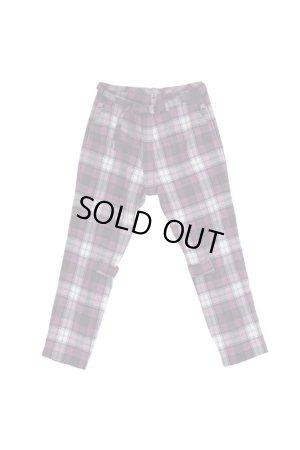 画像1: PHINGERIN BONTAGE PANTS WOOL ホワイト×パープル
