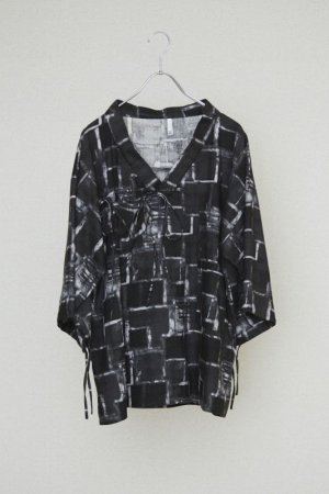 画像1: HUMIS DEFORMATION TYROLEAN SHIRT-BLOUSON BLACK MULTI