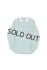 PHINGERIN SOUP SHIRT PLAID グリーン×ホワイト