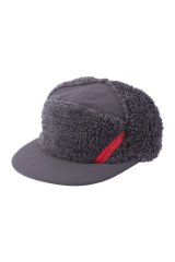 PHINGERIN PANEL CAP FLUFFY チャコール