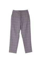 PHINGERIN TEEN TROUSERS WOOL グレーチェック