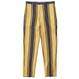 THE NERDYS STRIPE tapered pants Yellow×Navy